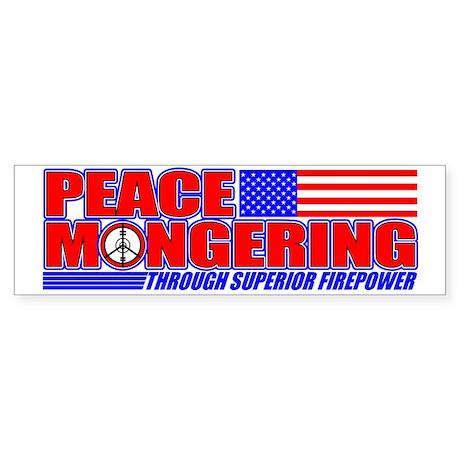 Peacemonger Bumper Sticker