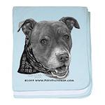 Roxy, Pit Bull Terrier baby blanket