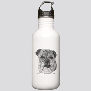 Allie, English Bulldog Stainless Water Bottle 1.0L