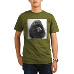 Black or Chocolate Poodle Organic Men's T-Shirt (d