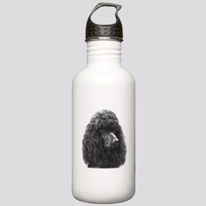 Black or Chocolate Poodle Stainless Water Bottle 1