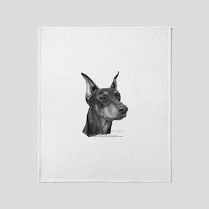 Doberman Pinscher Throw Blanket