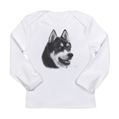 Siberian Husky Long Sleeve Infant T-Shirt