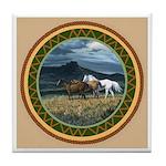 Three Horses Tile Coaster