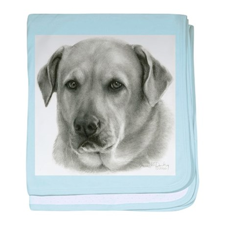 Lindsay - Yellow Lab Mix baby blanket