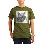 Bengal Cat Organic Men's T-Shirt (dark)