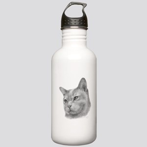Burmese Cat Stainless Water Bottle 1.0L