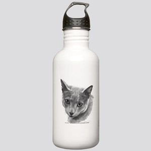Russian Blue Cat Stainless Water Bottle 1.0L