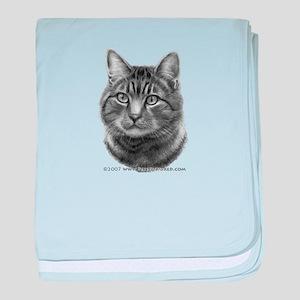 Tiger Cat baby blanket