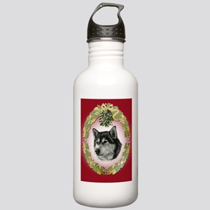 Alaskan Malamute Mistletoe Stainless Water Bottle