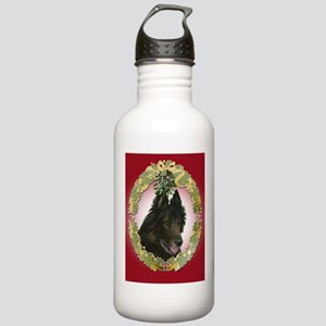 Belgian Tervuren Christmas Stainless Water Bottle