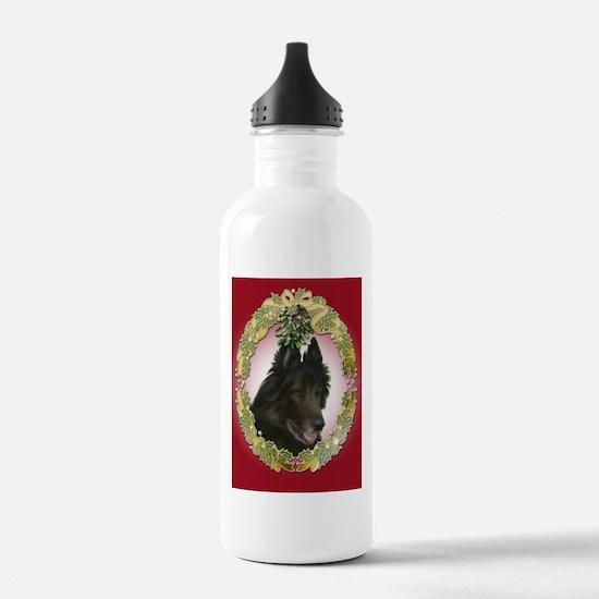 Belgian Tervuren Christmas Water Bottle