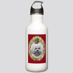 Bichon Frisé Christmas Stainless Water Bottle 1.0L