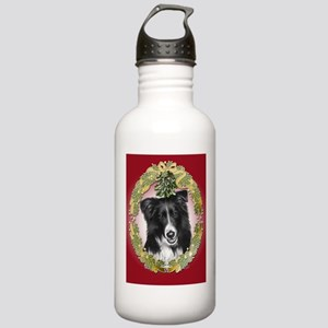 Border Collie Christmas Stainless Water Bottle 1.0