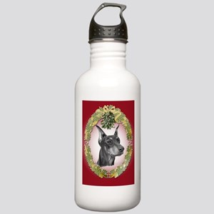 Doberman Pinscher Christmas Stainless Water Bottle