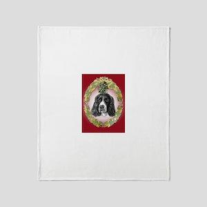 English Springer Spaniel Mist Throw Blanket
