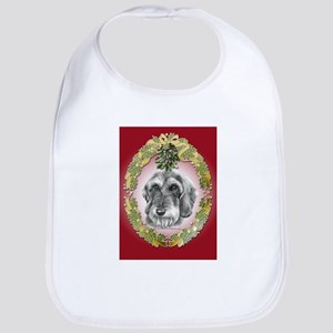 Wire-Haired Dachshund Christm Bib