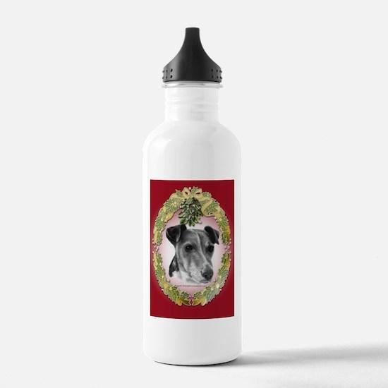 Fox Terrier Christmas Water Bottle