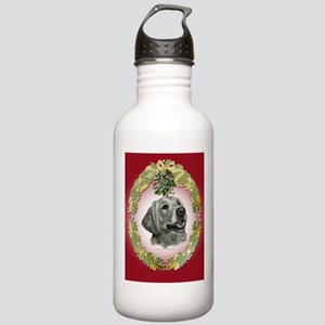 Golden Retriever Mistletoe Stainless Water Bottle