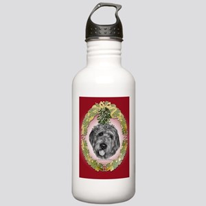 Labradoodle Christmas Stainless Water Bottle 1.0L