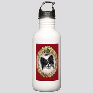 Papillon Christmas Stainless Water Bottle 1.0L