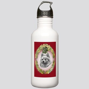 Pomeranian Christmas Stainless Water Bottle 1.0L