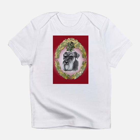 Schnauzer Christmas Infant T-Shirt