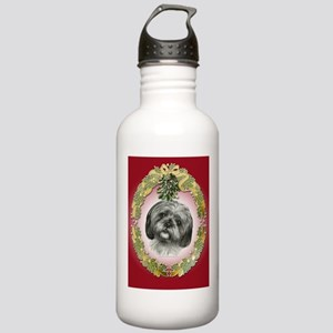 Shih Tzu Christmas Stainless Water Bottle 1.0L