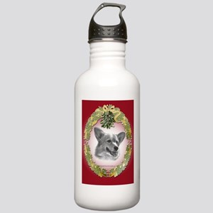 Welsh Corgi Christmas Stainless Water Bottle 1.0L