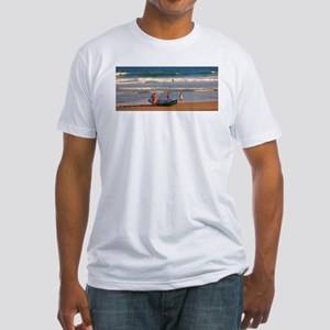 Manly Beach Surf Life Savers Fitted T-Shirt
