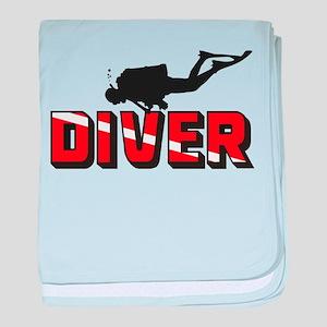 Diver baby blanket