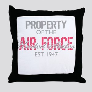 Property of the US Air Force Throw Pillow