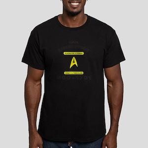 Star Trek NCC-1701 Men's Fitted T-Shirt (dark)