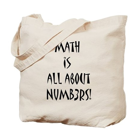 Math Is All About Numb3rs Tote Bag By Lageodesign