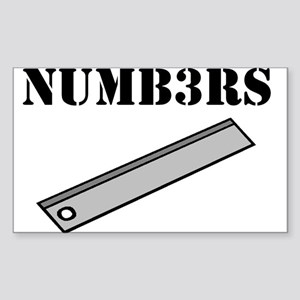 Numb3rs Rules Sticker (Rectangle)