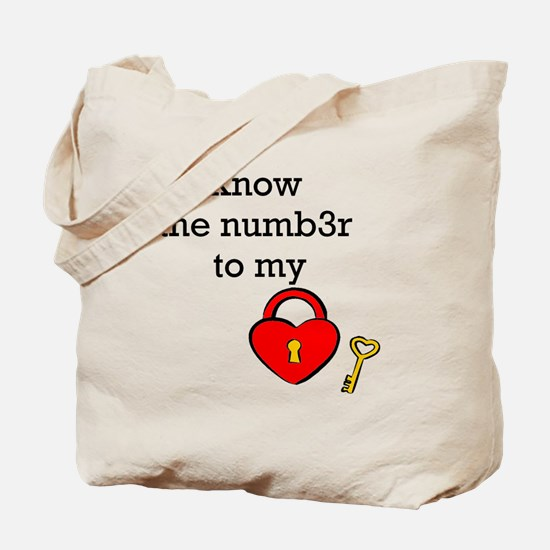 Know the numb3r to my heart Tote Bag