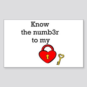 Know the numb3r to my heart Sticker (Rectangle)