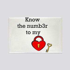 Know the numb3r to my heart Rectangle Magnet