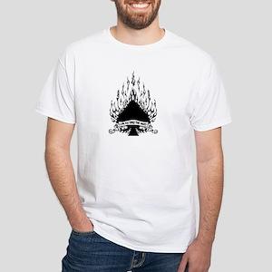 flame spade White T-Shirt