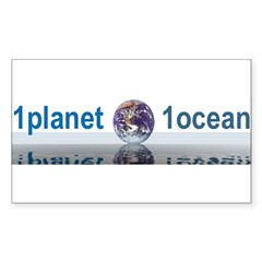 1planet1ocean Sticker (Rectangle 50 pk)
