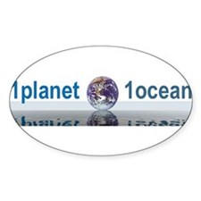 1planet1ocean Sticker (Oval)