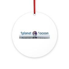 1planet1ocean Ornament (Round)