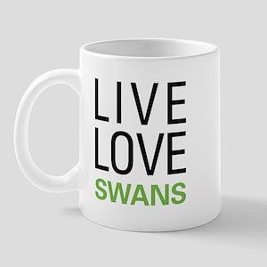 Live Love Swans Mug