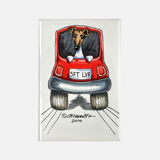Smooth Fox Terrier Car Rectangle Magnet