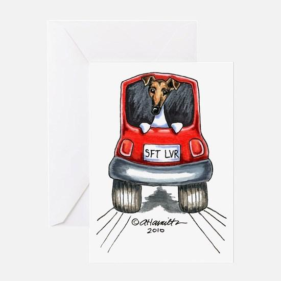 Smooth Fox Terrier Car Greeting Card