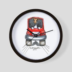Smooth Fox Terrier Car Wall Clock