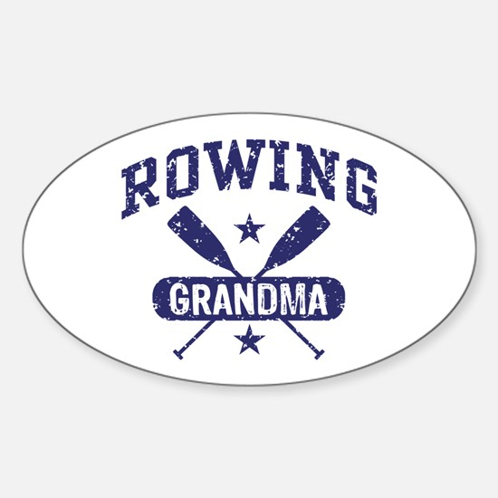 Rowing Grandma Sticker (Oval)
