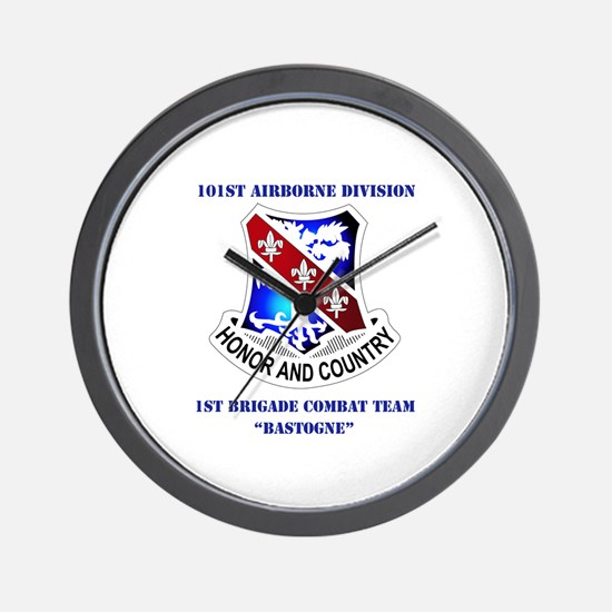 DUI - 1st BCT - Bastogne with Text Wall Clock