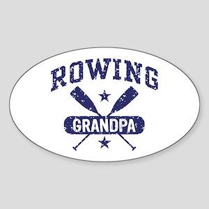 Rowing Grandpa Sticker (Oval)