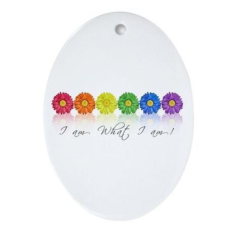 Daisy pride Ornament (Oval)
